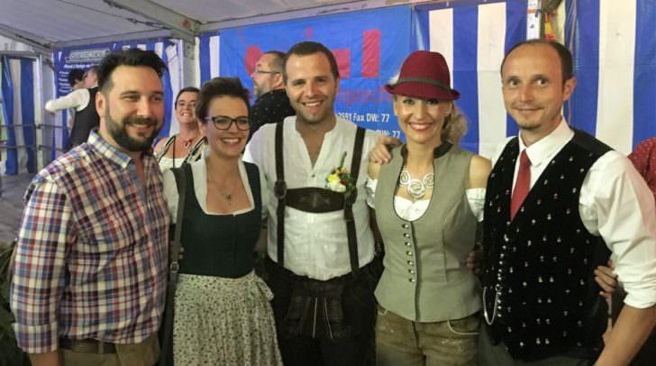 Marcus Frohnwieser (SOHO Villach), Stadträtin Katharina Spanring (ÖVP), Bgm. Christian Hecher, Bianca Ohner, Vbgm. DI Thomas Michenthaler