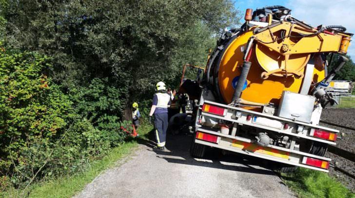 Kanalreinigungswagen Bergung