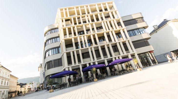 Der Hans-Gasser-Platz mit dem HGP9 in Villach