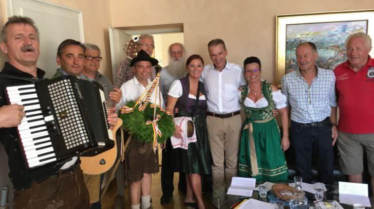 Die traditionelle Partie machte auch bei Bürgermeister Ferdinand Vouk halt