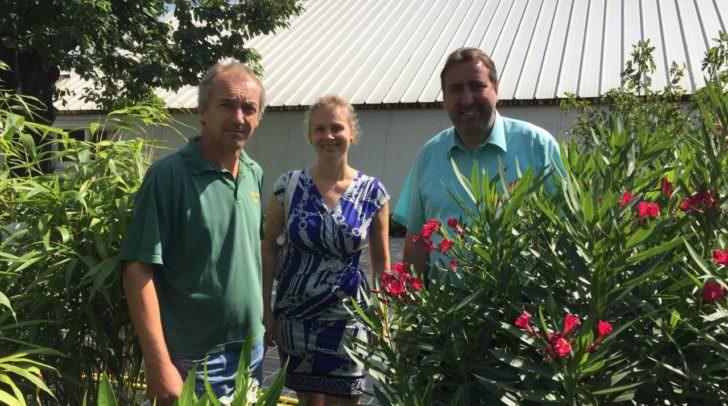 Am Bild: Michael Schludermann, STR Erwin Baumann und Gemeinderätin Katrin Nießner