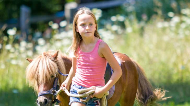 Mit den Ponys aus dem Reit- und Fahrbetrieb Gastager aus Nötsch hatten die Kinder ihre Freude.