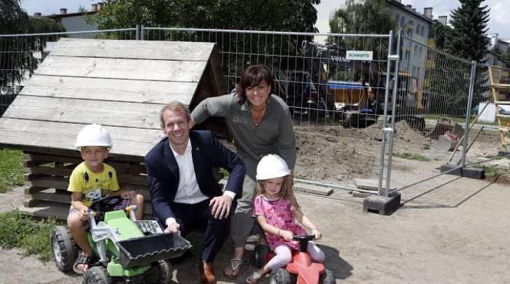 Kindergarten, Tratten, Baustelle