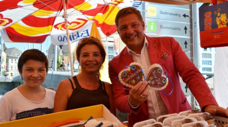 Auch Bürgermeister Günther Albel besuchte den Laurentiusmarkt