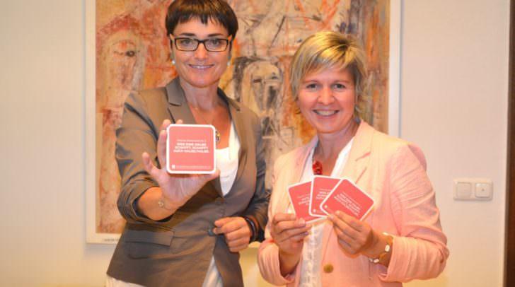 Frauenreferentin LHStv.in Beate Prettner mit der Frauenbeauftragten des Landes Michaela Slamanig