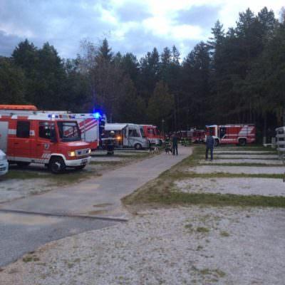 Die Feuerwehr Finkenstein vor Ort