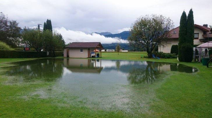 Eine Gewitterfront mit Starkregen ist in der Nacht von Freitag auf Samstag über Villach und Villach Land hinweggezogen