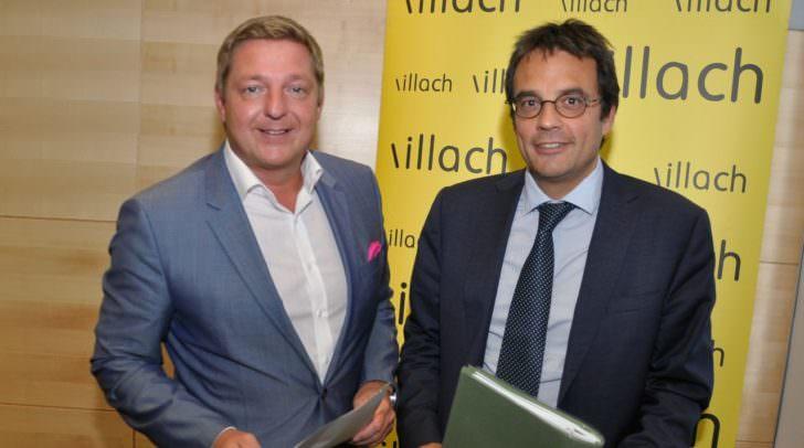 Bürgermeister Günther Albel und Vergabespezialist Rechtsanwalt Dr. Oliver Sturm.