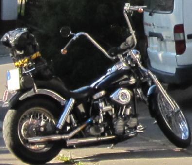 Die gestohlene Harley Davidson im Wert von 25.000 Euro
