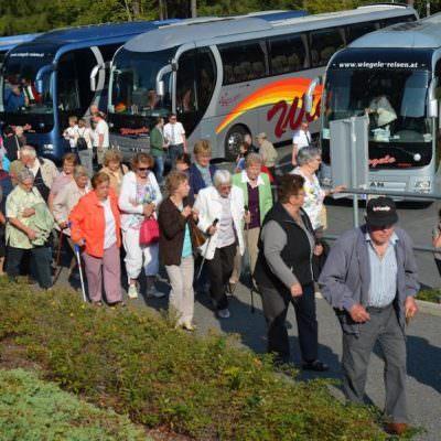 Ankunft in Keutschach mit Busunternehmen Wiegele Reisen
