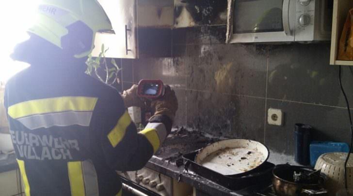 Küchenbrand in Vilach