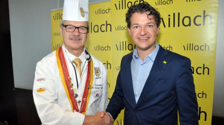 Stadtrat Mag. Peter Weidinger (rechts) und Günter Walder, Präsident Klub der Köche Kärnten, wollen Bewusstseinsbildung schaffen und im Rahmen des Projektes zeigen, dass Kochen auch Leidenschaft ist.