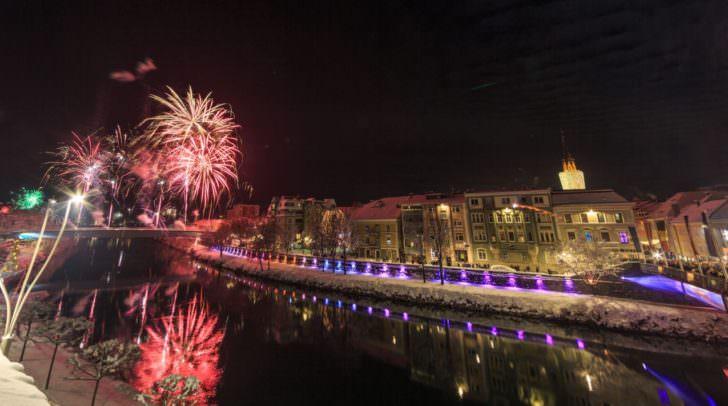 Feuerwerk Silvester in Villach