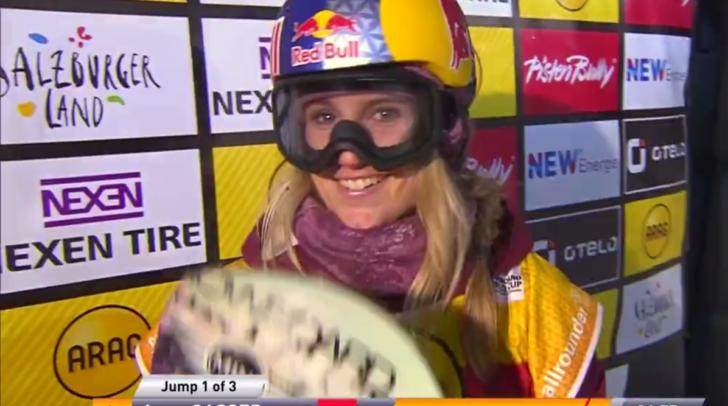 Der perfekte Sprung gelang Anna Gasser bei der WM in der Sierra Nevada.