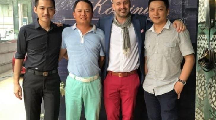 Michael Koloini mit seinen chinesischen Geschäftspartnern