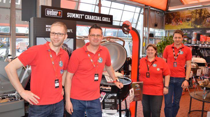 Villachs Profitruppe wenn es ums Grillen geht: Die Crew der MRC Weber Grill World in Villach