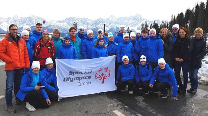 Zu Besuch auf Villachs Hausberg, dem Dobratsch: Das Estnische Special Olympics-Team!