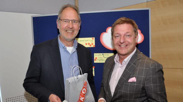 Bürgermeister Günther Albel und Wirtschaftskammerobmann Bernhard Plasounig ziehen an einem Strang.