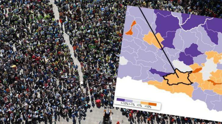 Welche Gemeinden wachsen, welche schrumpfen? Interessante Zahlen und Daten auf derstandard.at.