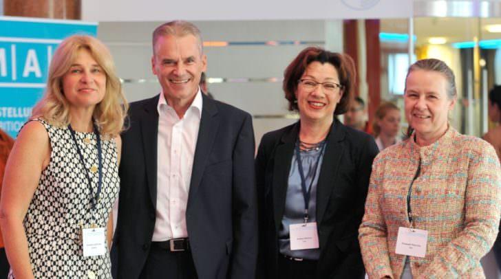 Univ.-Prof. Dr. Cornelia LASS-FLÖRL, BGM Ferdinand Vouk, Univ.-Prof. Dr. Andrea Grisold u. Univ.-Prof. Dr. Elisabeth PRESTERL, MBA