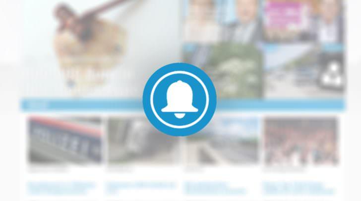 Der Push-Button im rechten unteren Eck der Webseite.
