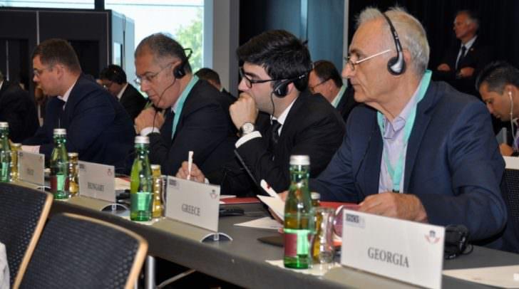 Teilnehmer bei der OSZE-Konferenz in Villach