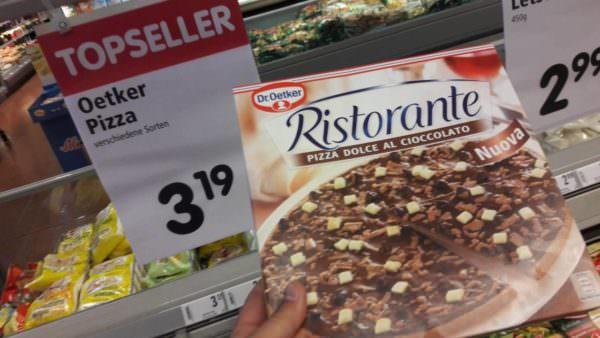 Schokopizza in einem Villacher Supermarkt