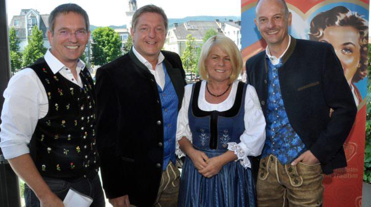v.li.: Peter Schicho (Bauerngman), Bürgermeister Günther Albel, Vizebürgermeisterin Mag.a Gerda Sandriesser (Obfrau Verein Villacher Kirchtag), Ing. Jo Presslinger (Geschäftsführer Villacher Kirchtag GmbH)