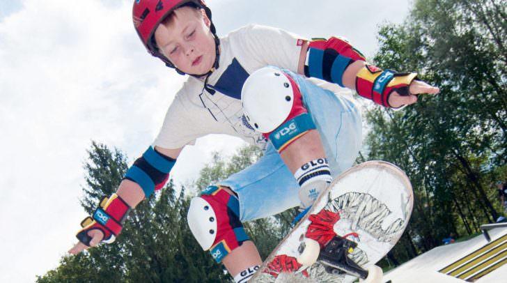 Skateboard und andere Trendsportarten sind ebenfalls im Programm enthalten
