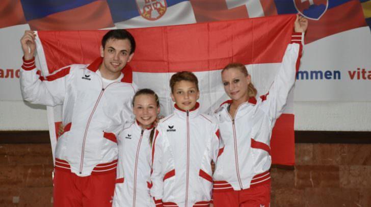 V.l : Nico Spendier & Cathrin Tschuden, Sandro Spendier & Nicole Schojer