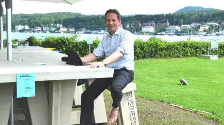 LR Christian Benger im Business Beach Velden