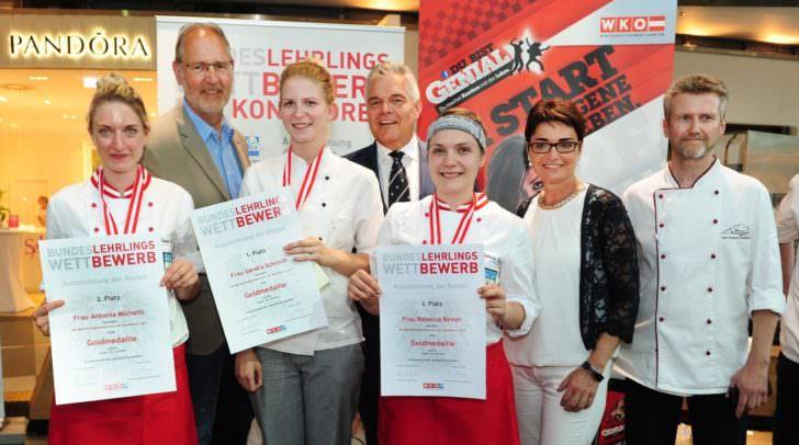 Bundeslehrlingswettbewerb im Atrio mit LHStv.in Beate Prettner