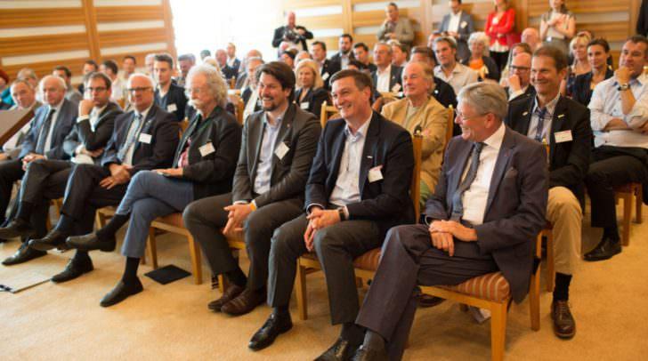 Fernsehmoderator Jean Pütz, IV Präsident Christoph Kulterer, WKO Präsident Jürgen Mandl, LH Peter Kaiser