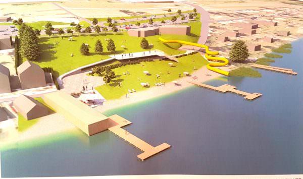 So soll das Strandbad Drobollach nach der Fertigstellung aussehen.