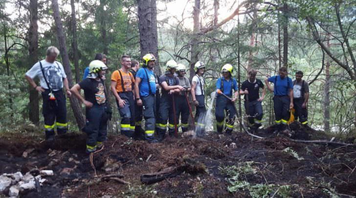 Zwei Feuerwehren löschten heute einen beginnenden Brand in der Schütt