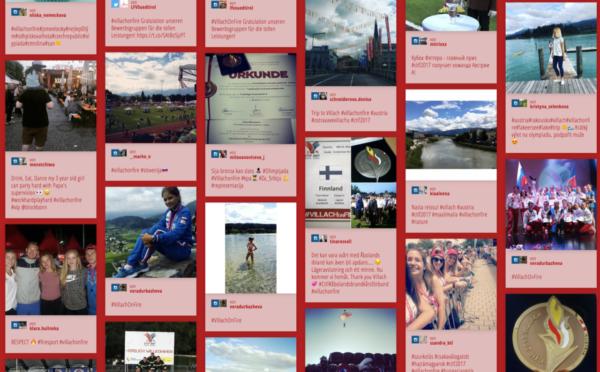 Screenshot Social Wall mit #VillachOnFire-Beiträgen im Netz