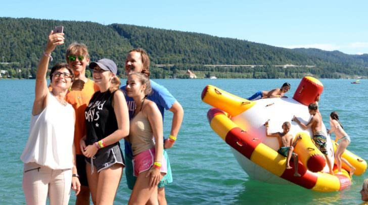 LHStv.in Prettner letztes Jahr zu Besuch im Feriencamp Cap Wörth.