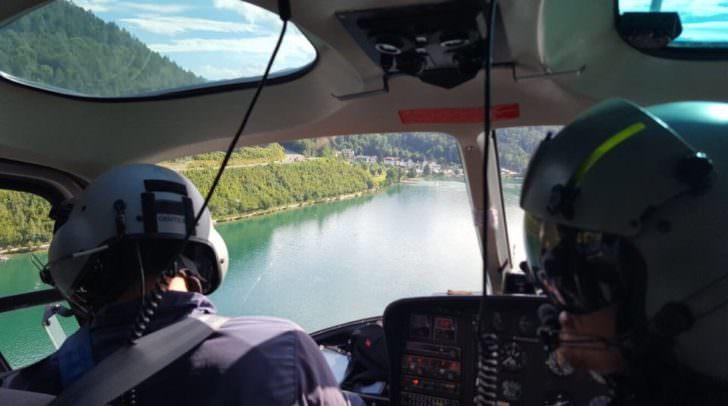 Einsatz des Helikopters am Klopeiner-See