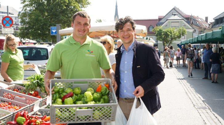 Stadtrat Peter Weidinger am Markt.