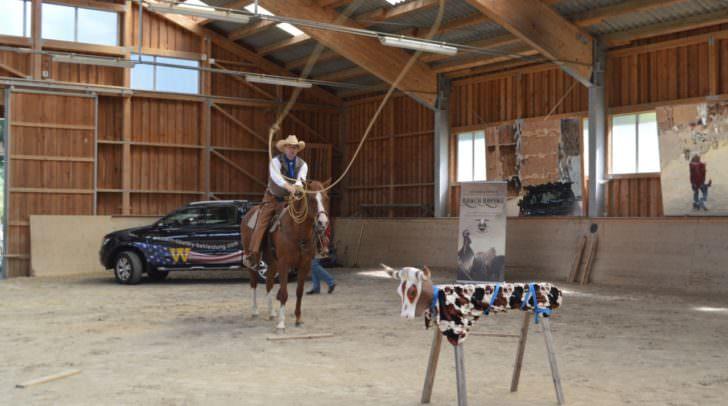 Die generelle Aufgabe beim Ranch-Roping besteht darin, einen Rinderdummy mit dem Lasso (vom Pferd und/oder vom Boden aus) aus vorgegebener Entfernung am Kopf, an der Hüfte oder an den Hinterbeinen zu fangen.