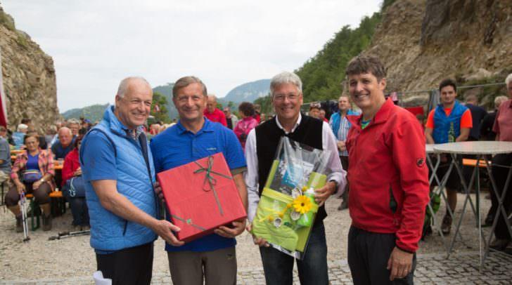 Bgm Ingo Appé, Außenminister Karl Erjavec, LH Peter Kaiser und Bgm Borut Sajovic