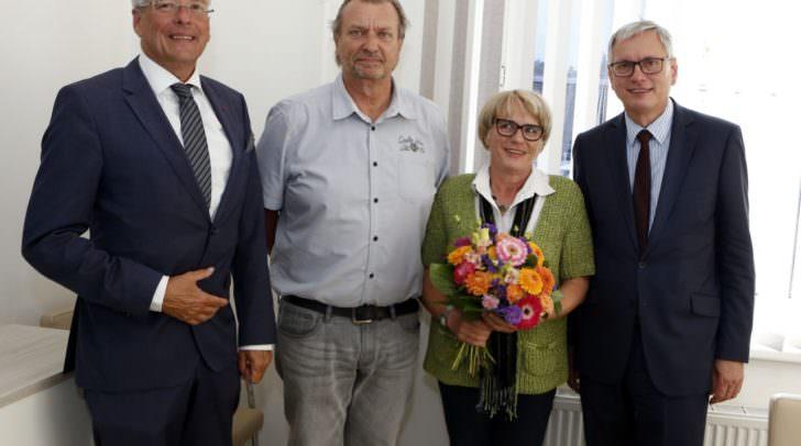 LH Peter Kaiser, Karl Binder, LA Waltraud Rohrer und BM Alois Stoeger