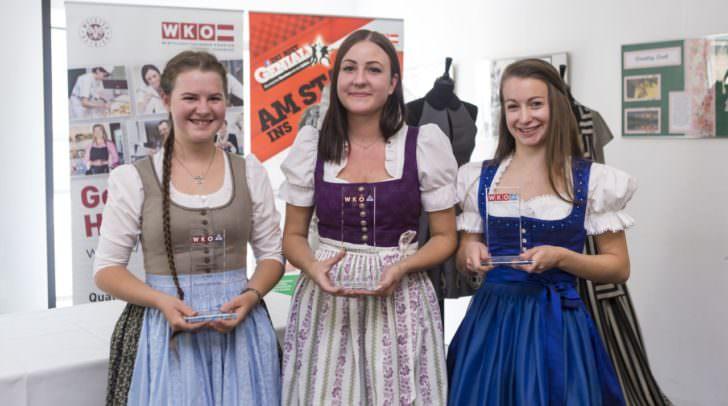 Talentiertes Siegertrio: Irmgard Ramminger, Christina Strauß und Anja Bechter