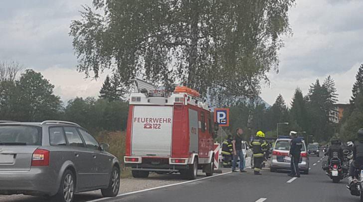 Feuerwehr musste Motoröl beseitigen.