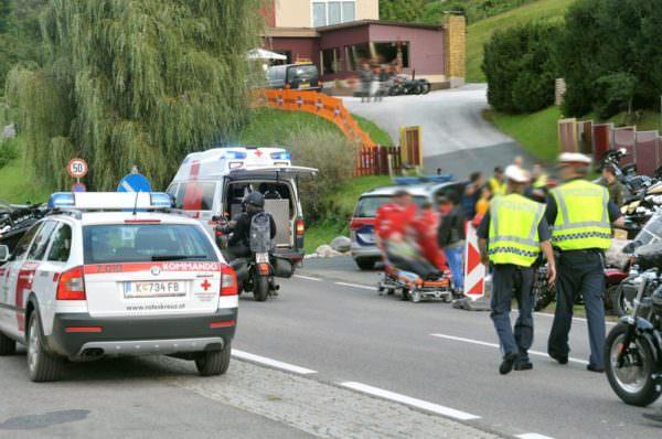 Motorradunfall in Faak am See