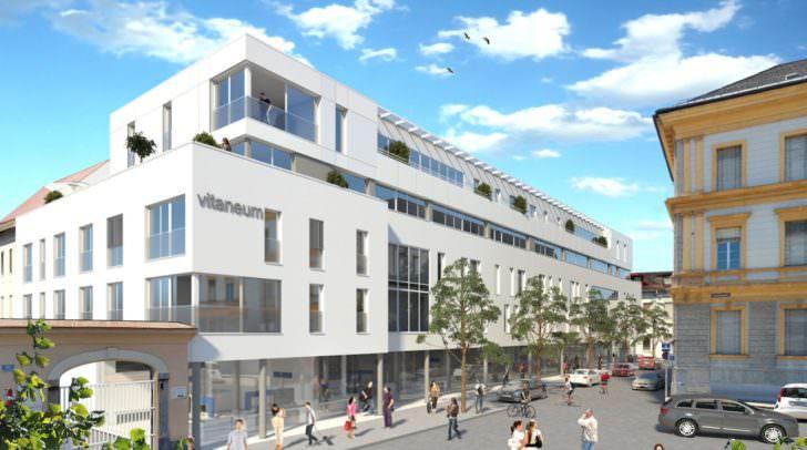 Im Vitaneum sollen 28 qualitativ hochwertige Wohnungen sowie attraktive Praxis- und Geschäftsflächen Platz finden.
