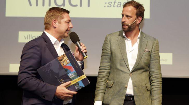 Bürgermeister Günther Albel mit Innovationsforscher Nick Sohnemann