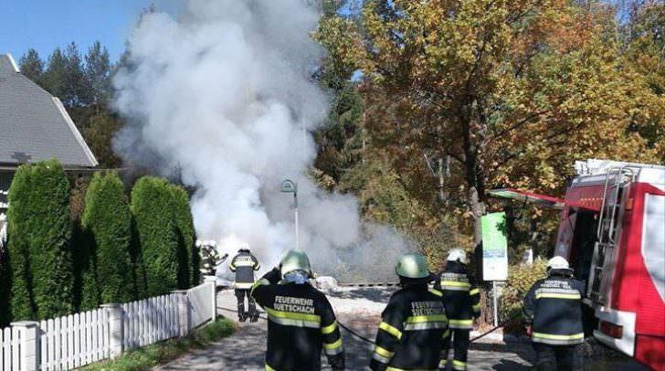 Fahrzeugbrand im Wahaha Paradise Resort