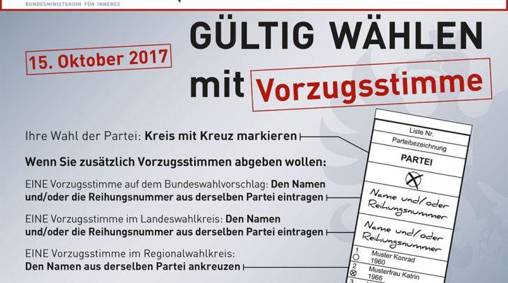 "Info ""Gültig wählen"""