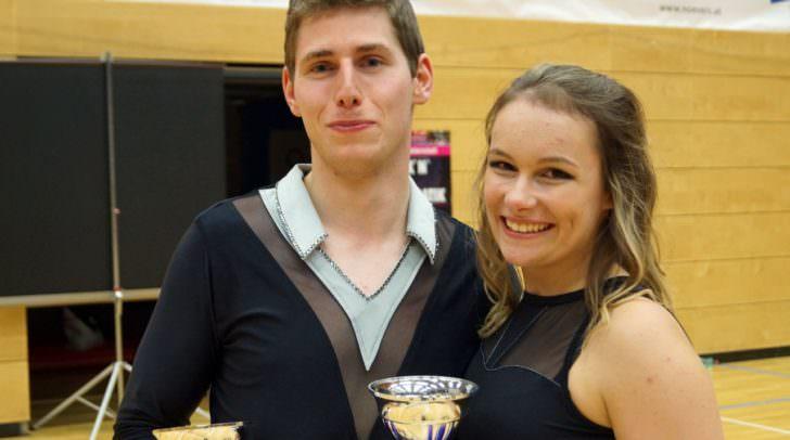 Timo Tange (23) & Isabel Steiner (21) freuen sich über den dritten Platz, wollen jedoch für die Österreichischen Meisterschaften noch weiter an ihrer Technik feilen.